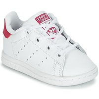 Zapatos Niña Zapatillas bajas adidas Originals STAN SMITH I Blanco / Rosa