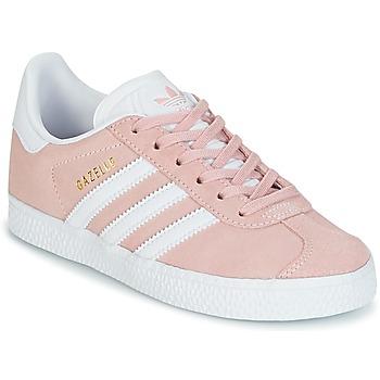 Zapatos Niña Zapatillas bajas adidas Originals GAZELLE C Rosa