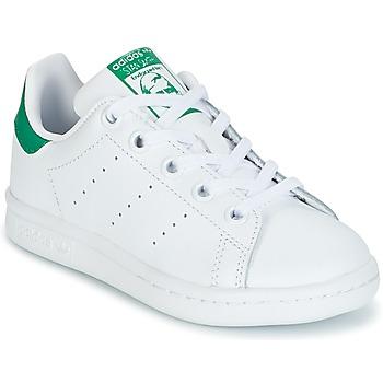 Zapatos Niños Zapatillas bajas adidas Originals STAN SMITH C Blanco / Verde