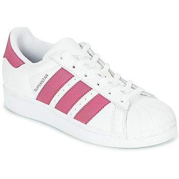 the latest 96ba6 5902d Zapatos Niña Zapatillas bajas adidas Originals SUPERSTAR J Blanco  Rosa