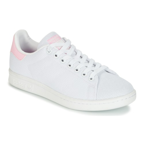 best website a4790 9fae8 Zapatos Mujer Zapatillas bajas adidas Originals STAN SMITH W Blanco   Rosa