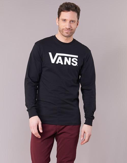 textil Hombre Camisetas manga larga Vans VANS CLASSIC Negro