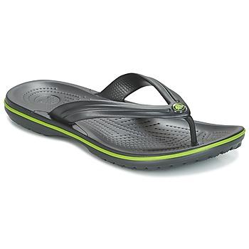 Zapatos Chanclas Crocs CROCBAND FLIP Negro / Verde