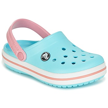 Zapatos Niña Zuecos (Clogs) Crocs Crocband Clog Kids Azul / Rosa