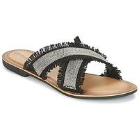 Zapatos Mujer Zuecos (Mules) Moony Mood IRTA Negro / Plateado