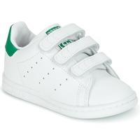 Zapatos Niños Zapatillas bajas adidas Originals STAN SMITH CF I Blanco / Verde