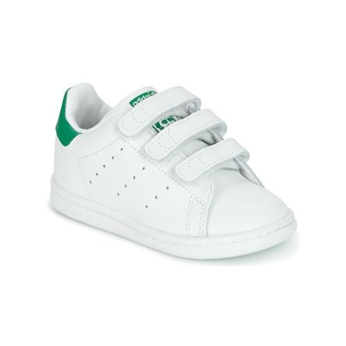 adidas Originals STAN SMITH CF I Blanco / Verde - Envío gratis | ! - Zapatos Deportivas bajas Nino