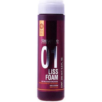 Belleza Acondicionador Salerm Liss Foam Light Hold Straightening Mousse  200 ml