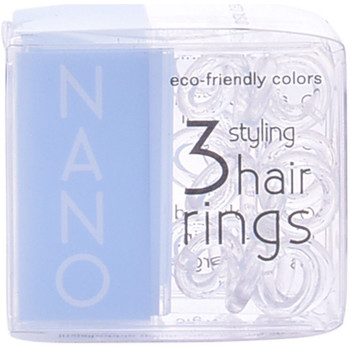 Belleza Mujer Tratamiento capilar Invisibobble Nano Crystal Clear Hair Rings  3 uds