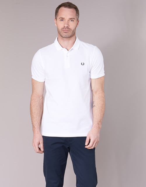Polos Corta The Hombre Shirt Blanco Perry Manga Fred Textil N0wXP8knO