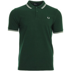 textil Hombre polos manga corta Fred Perry Twin Tipped  Shirt Ivy Snow White Verde
