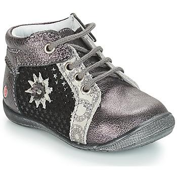 Zapatos Niña Botas de caña baja GBB RESTITUDE Plateado / Negro / Gris
