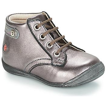 Zapatos Niña Botas de caña baja GBB NICOLE Violeta / Metalizado