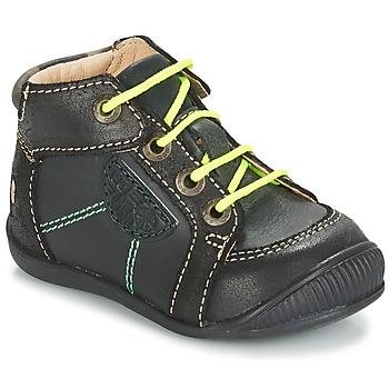 Zapatos Niño Botas de caña baja GBB RACINE Gris / Negro
