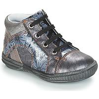 Zapatos Niña Zapatillas altas GBB ROSETTA Plata / Azul