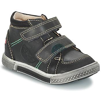 Zapatos Niño Botas de caña baja GBB ROBERT Ctu / Gris- negro / Dpf / Stryke