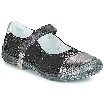 Zapatos Niña Bailarinas-manoletinas GBB RIKA Negro / Plata
