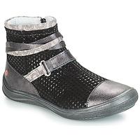 Zapatos Niña Botas de caña baja GBB ROCHELLE Gris / Negro