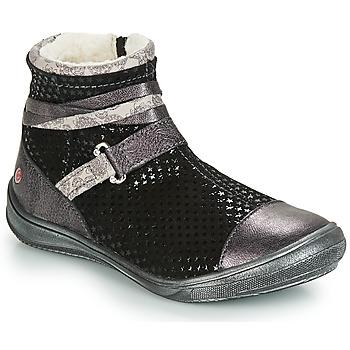 Zapatos Niña Botas de caña baja GBB ROCHELLE Negro / Plata