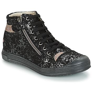 Zapatos Niña Bandolera GBB DESTINY Negro / Plata