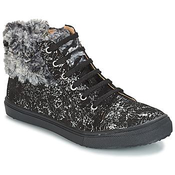Zapatos Niña Botas de caña baja GBB ROBERTA Vts / Negro / Estampado / Dpf / Basket