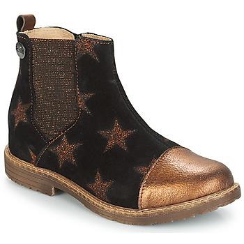 Zapatos Niña Botas de caña baja GBB LEONTINA Negro / Cobre