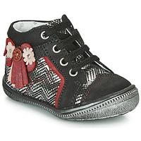Zapatos Niña Botas de caña baja Catimini RHUBARBE Negro / Plata