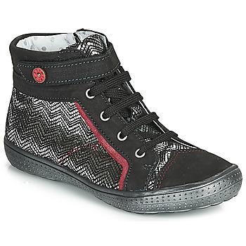 Zapatos Niña Botas de caña baja Catimini ROSIERE Negro / Plata