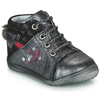 Zapatos Niña Botas de caña baja Catimini ROULETTE Vtc / Gris plateado / Dpf / Gluck