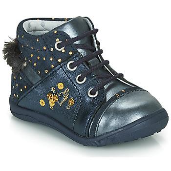Zapatos Niña Botas de caña baja Catimini ROULETTE Vtc / Marino - lunares / Dorado / Dpf / Gluck