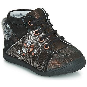 Zapatos Niña Botas de caña baja Catimini ROULETTE Vtc / Negro - cobre / Dpf / Gluck