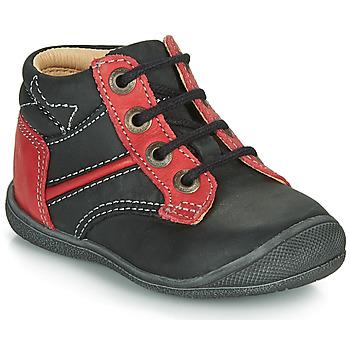 Zapatos Niño Botas de caña baja Catimini RATON Negro / Rojo
