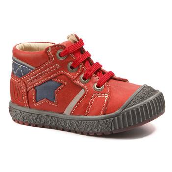 Zapatos Niño Botas de caña baja Catimini RENARD Vte / Rojo - marino  / Dpf / Linux