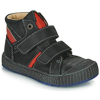 Zapatos Niño Zapatillas altas Catimini RAIFORT Negro / Rojo