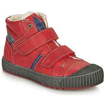 super popular e12e3 090a2 Zapatos Niño Botas de caña baja Catimini RAIFORT Vte  Rojo - marino  Dch