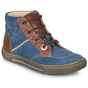 Zapatos Niño Botas de caña baja Catimini RUMEX Azul / Marrón