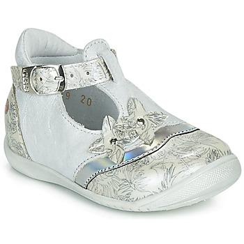 Zapatos Niña Bailarinas-manoletinas GBB SELVINA Blanco / Plata