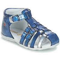 Zapatos Niña Sandalias GBB SAMIRA Vvn / Azul - estampado / Dpf / Zabou