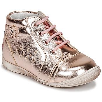 Zapatos Niña Zapatillas altas GBB SIDONIE Rosa / Dorado