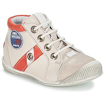 Zapatos Niño Botas de caña baja GBB SILVIO Beige / Rojo