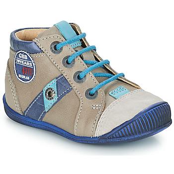 Zapatos Niño Botas de caña baja GBB SILVIO Beige / Azul