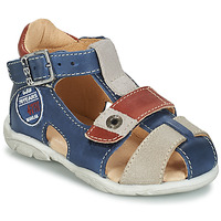 Zapatos Niño Sandalias GBB SULLIVAN Azul / Beige / Marrón