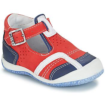 Zapatos Niño Botas de caña baja GBB SIGMUND Nuv / Rojo - marino  / Dpf / Leche