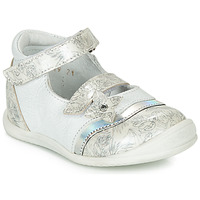 Zapatos Niña Bailarinas-manoletinas GBB STACY Blanco / Plata