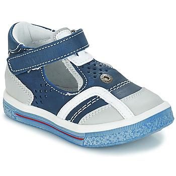Zapatos Niña Bailarinas-manoletinas GBB SALVADORE Azul / Gris
