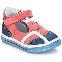 Zapatos Niña Bailarinas-manoletinas GBB SALVADORE Rojo / Azul