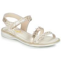 Zapatos Niña Sandalias GBB SWAN Blanco / Oro
