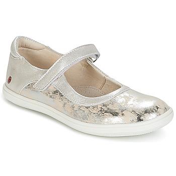 Zapatos Niña Bailarinas-manoletinas GBB PLACIDA Vte / Beige - plata / Dpf / Cuba