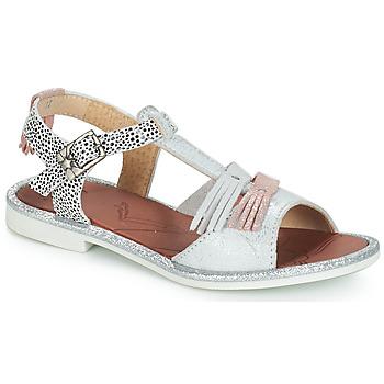 Zapatos Niña Sandalias GBB MARIA Plata / Blanco