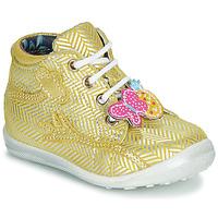 Zapatos Niña Zapatillas altas Catimini SALAMANDRE Amarillo